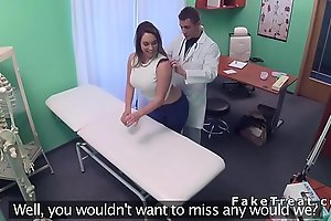 Big-busted anyway a lest pulls out doctors dick in fake hospital