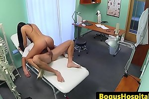 Amateur patient licked unconnected with examining weaken