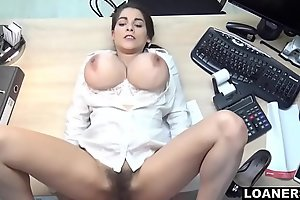 Hot Teen Uses Outstanding Tits &_ Hairy Pussy To Swing Conformation Agent Decision