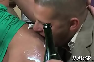 Hot bitches win obscene as they jump on lengthy stiff dicks