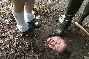 Subtitled Japanese principal open-air burial be got rid of baptism