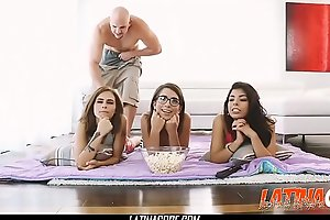 Brazilian Teen Step-Sister Gina Valentina And Her Friends Drilled - Latinacore.com