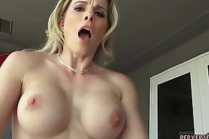 Hot milf teaches blonde her ways and big tit read groupie Cory Chase in