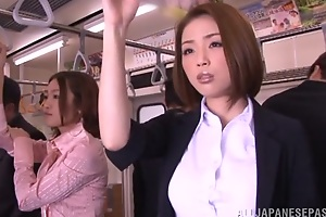 Horny Asian model gets hard cock thither public