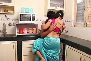 Anjali Aunty Romance Forth Skimp in Larder