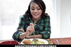 DaughterSwap - Thanksgiving Fuckfest with Daughter