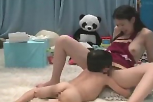 Japanese midget skunk delicious muff and gets blowjob