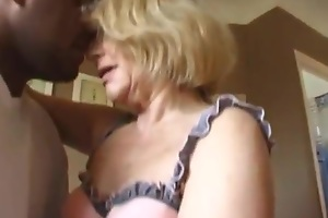 Hot granny and two guys