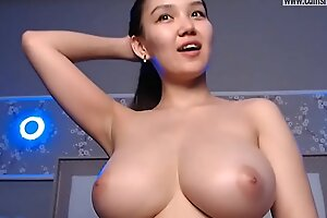 Multiple Orgasms with a remarkable hot Huge Tits Asian.camsrose.com